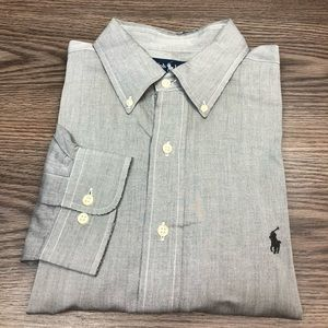 Polo Ralph Lauren Light Grey Oxford Shirt L